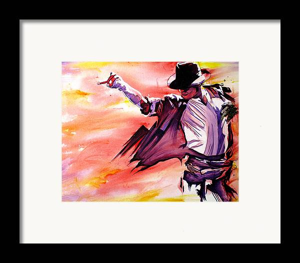 Michael Jackson Framed Print featuring the painting Michael Jackson-billie Jean by Joshua Morton