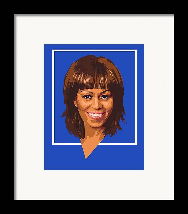 Michelle Framed Print featuring the digital art Michelle by Douglas Simonson