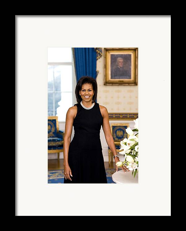 Admiral Framed Print featuring the digital art Michelle Obama by Official White House Photo