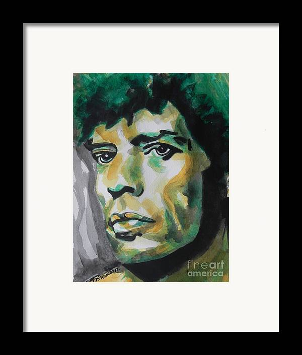 Watercolor Painting Framed Print featuring the painting Mick Jagger by Chrisann Ellis