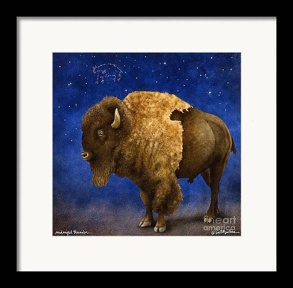 Will Bullas Framed Print featuring the painting Midnight Thunder... by Will Bullas
