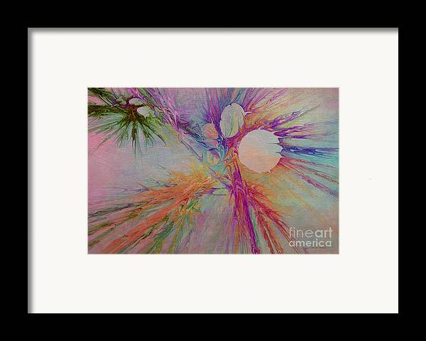 Abstract Framed Print featuring the digital art Mind Energy Aura by Deborah Benoit