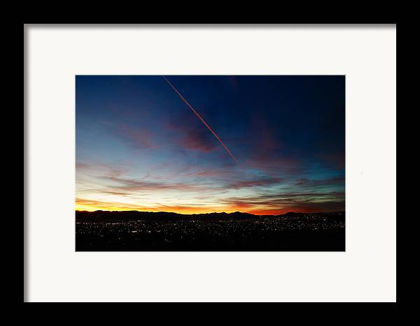 Sunset Framed Print featuring the photograph Mining City Sunset by Kevin Bone