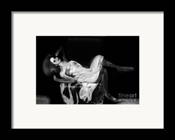 Black Framed Print featuring the photograph Miss Shapen Chase by Jessica Shelton