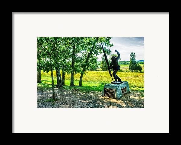 Grand Framed Print featuring the digital art Mississippi Memorial Gettysburg Battleground by Bob and Nadine Johnston