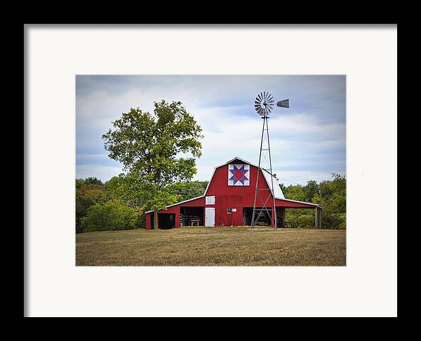 Barn Framed Print featuring the photograph Missouri Star Quilt Barn by Cricket Hackmann