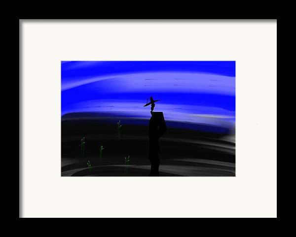 Abstract Framed Print featuring the painting Money Don't Make You Whole by Frankie Thorpe