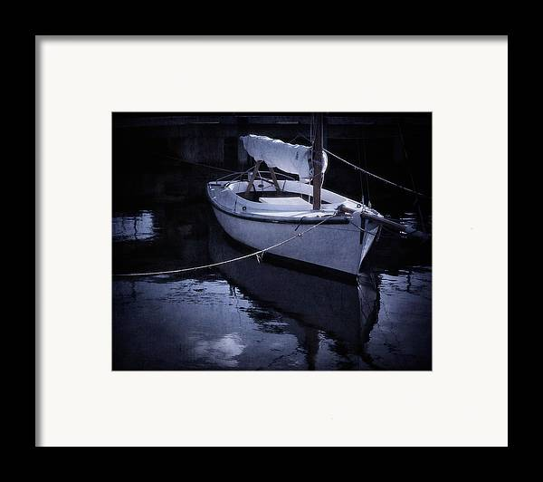 Boat Framed Print featuring the photograph Moonlight Sail by Amy Weiss