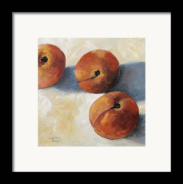 Peaches Framed Print featuring the painting More Georgia Peaches by Torrie Smiley