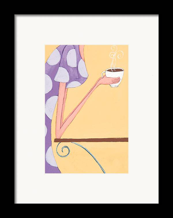 Coffee Framed Print featuring the painting Morning Coffee by Christy Beckwith