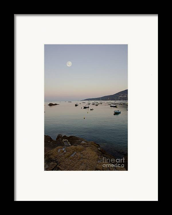 Moon Framed Print featuring the photograph Morning Moon by Sophie De Roumanie