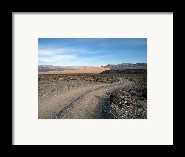 Death Valley Framed Print featuring the photograph Morning On Steele Pass by Joe Schofield