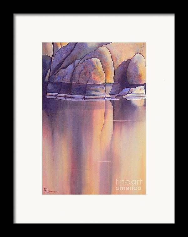 Watercolor Framed Print featuring the painting Morning Reflection by Robert Hooper