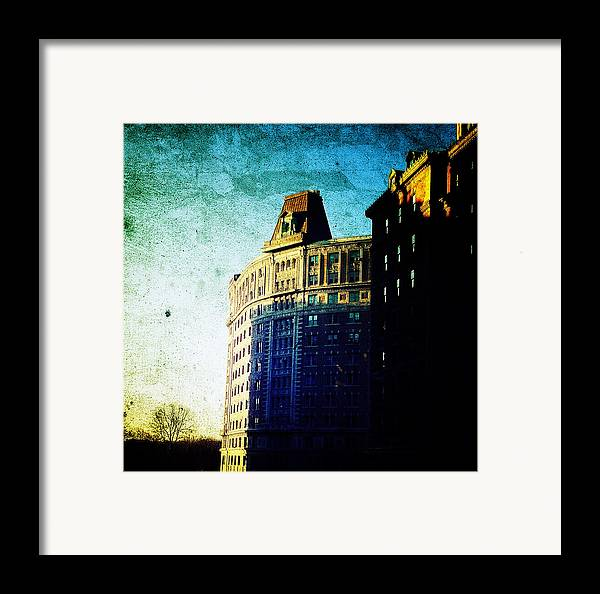 Nyc Framed Print featuring the photograph Morningside Heights Blue by Natasha Marco