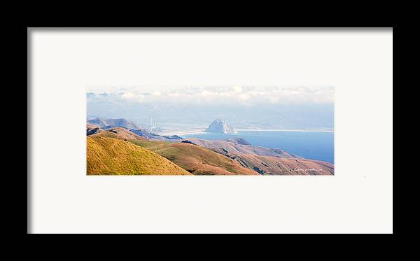 Big Sur Framed Print featuring the photograph Morro Bay Rock Vista Overlooking Highway 46 Paso Robles California by Artist and Photographer Laura Wrede