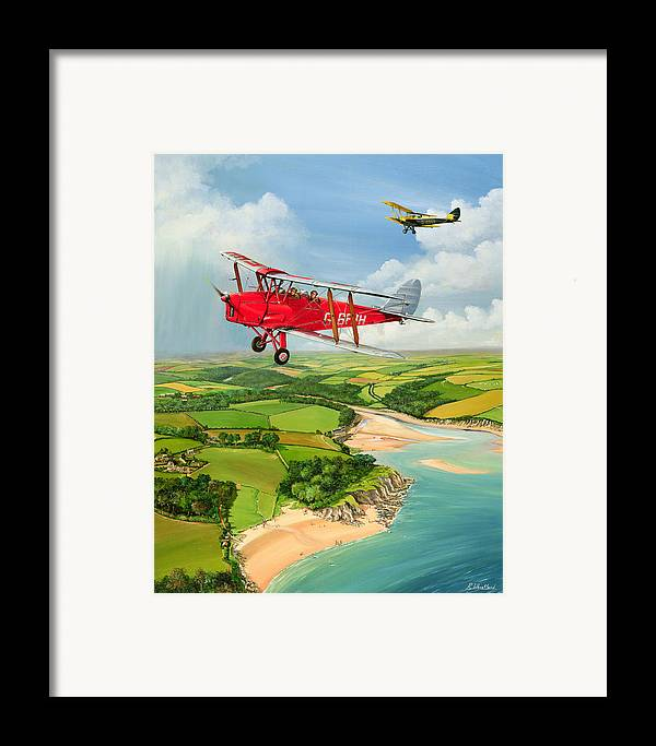Moth Framed Print featuring the painting Mothecombe Moths by Richard Wheatland