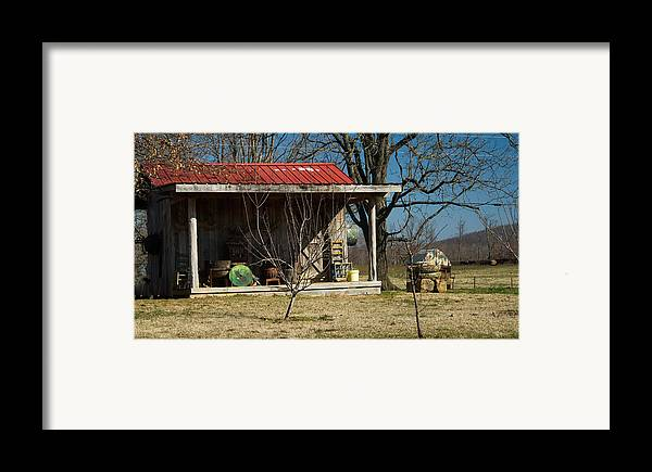 Mountain Framed Print featuring the photograph Mountain Cabin In Tennessee 1 by Douglas Barnett