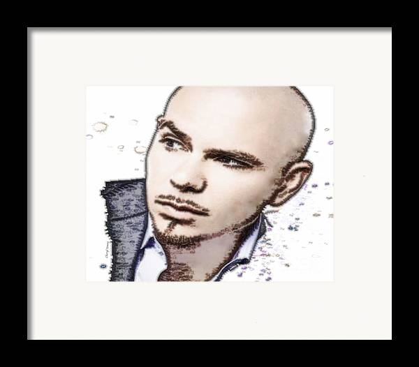 Pitbull Framed Print featuring the photograph Mr 305 by Cheryl Young