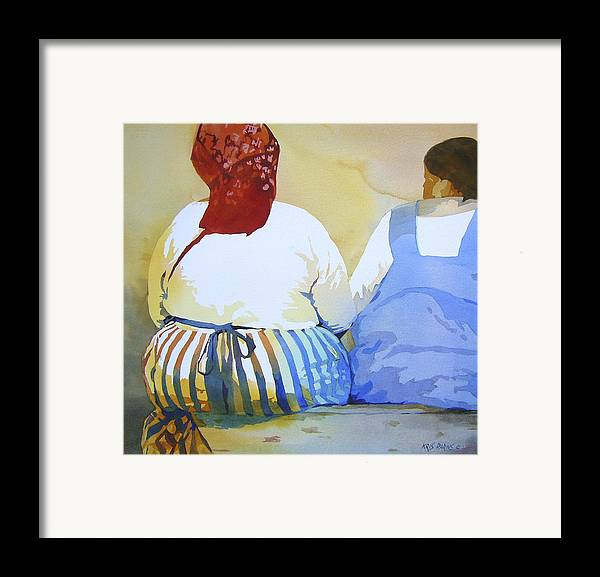 Kris Parins Framed Print featuring the painting Muchachas by Kris Parins
