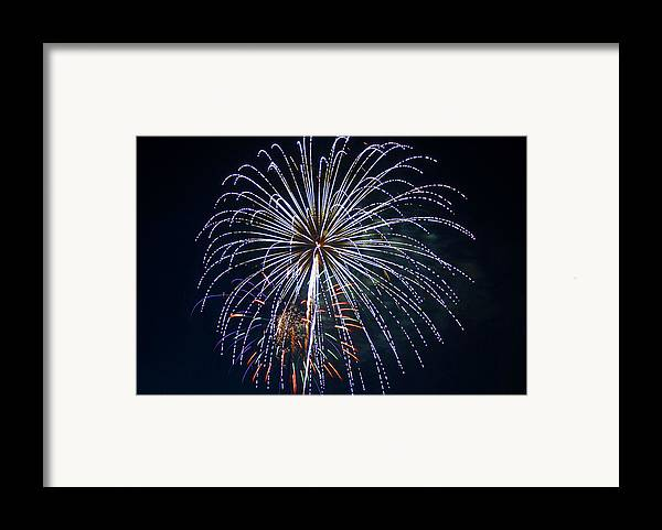 Fireworks Framed Print featuring the photograph 4th Of July Fireworks 12 by Howard Tenke