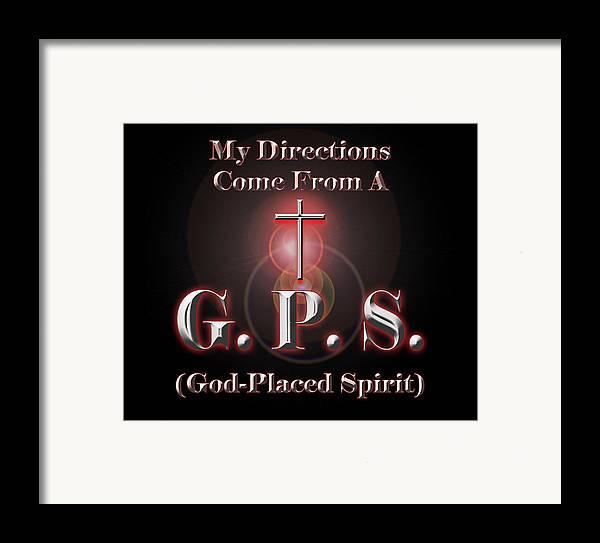 Gps Framed Print featuring the digital art My Gps by Carolyn Marshall