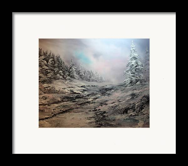 Cannock Chase Framed Print featuring the painting My Idea Of Heaven by Jean Walker