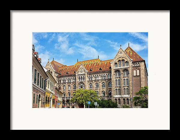 Budapest Framed Print featuring the photograph National Archives Of Hungary by Artur Bogacki