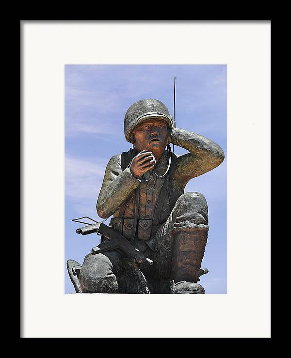 Navajo Framed Print featuring the photograph Navajo Code Talkers - Navajo People by Christine Till