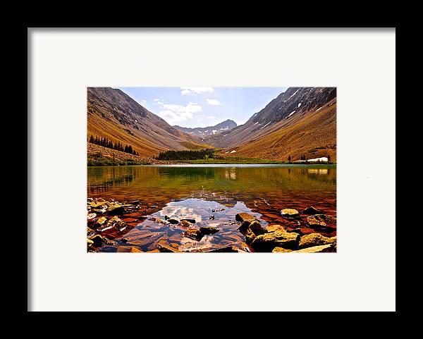 Navajo Lake Framed Print featuring the photograph Navajo Lake by Aaron Spong