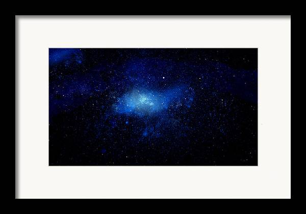 Nebula Ceiling Mural Framed Print featuring the painting Nebula Ceiling Mural by Frank Wilson