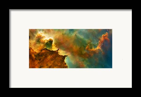 Nasa Images Framed Print featuring the photograph Nebula Cloud by The Vault - Jennifer Rondinelli Reilly