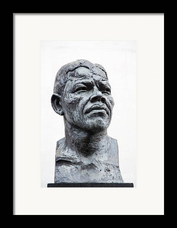 Africa Framed Print featuring the photograph Nelson Mandela Statue by Jane Rix