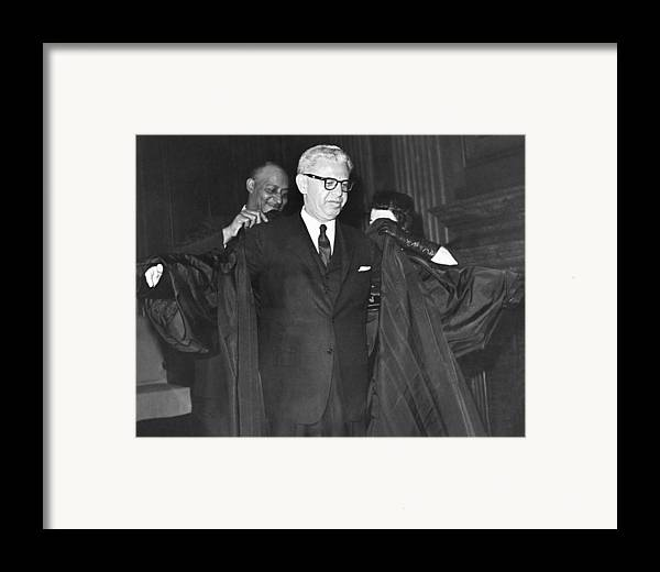 1960's Framed Print featuring the photograph New Court Justice Goldberg by Underwood Archives