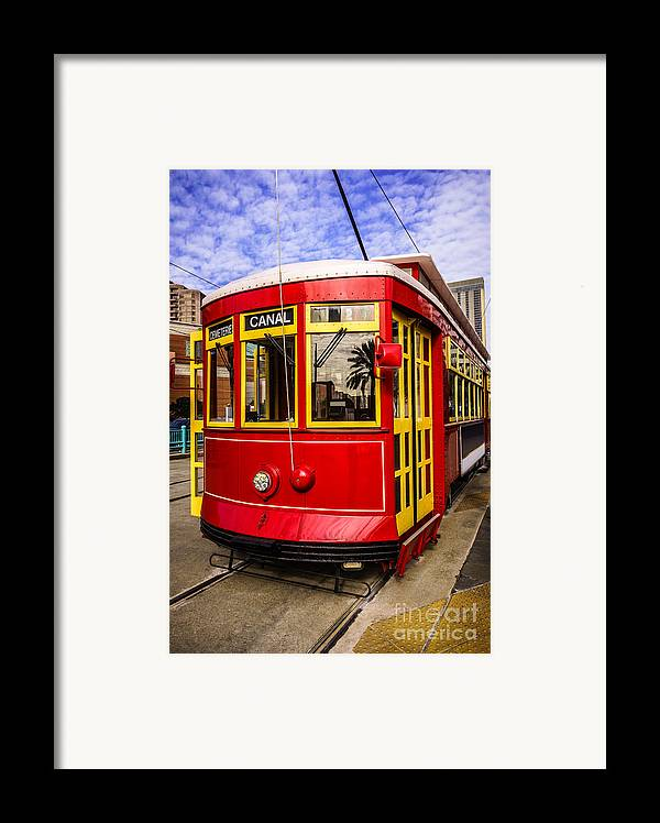 America Framed Print featuring the photograph New Orleans Streetcar by Paul Velgos