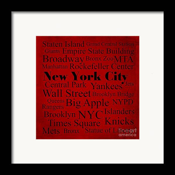 Denyse And Laura Design Studio Framed Print featuring the photograph New York City by Denyse and Laura Design Studio