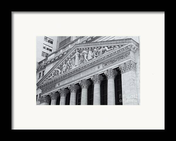 Clarence Holmes Framed Print featuring the photograph New York Stock Exchange II by Clarence Holmes