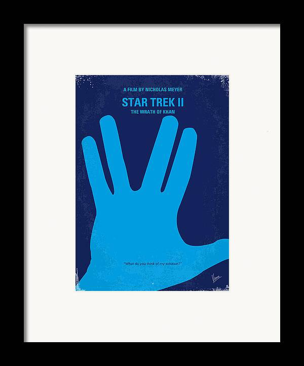 Star Framed Print featuring the digital art No082 My Star Trek 2 Minimal Movie Poster by Chungkong Art
