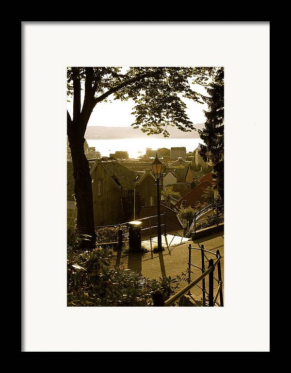 Norwegian Art Framed Print featuring the photograph Norway - Bergen - Summertime by Hilde Mariann Hansen