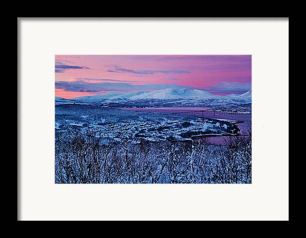Norway Framed Print featuring the photograph Norwegian Arctic Twilight by David Broome
