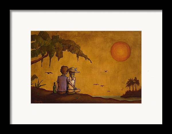 Nature Framed Print featuring the painting Obvious Romance by Bryan Ubaghs