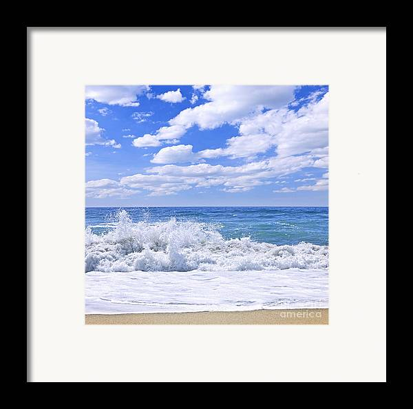 Surf Framed Print featuring the photograph Ocean Surf by Elena Elisseeva