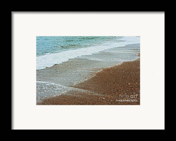 Ocean Framed Print featuring the photograph Ocean Wave Color Palette by Artist and Photographer Laura Wrede