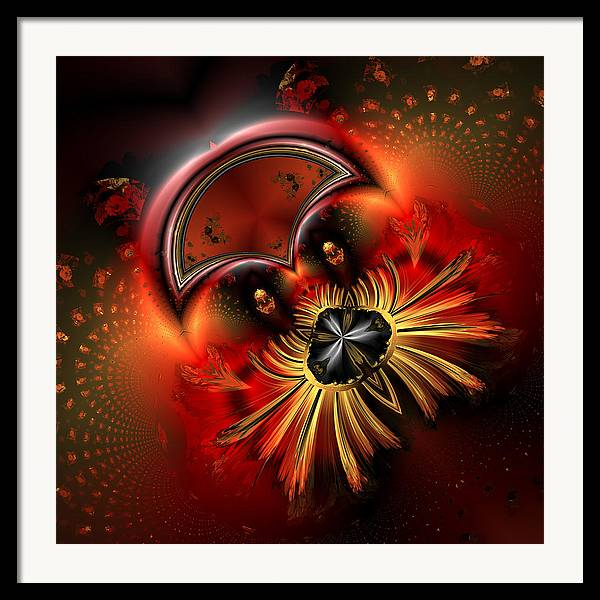 Abstract Framed Print featuring the digital art Ocf 199 Fido In Abstract by Claude McCoy