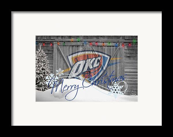 Thunder Framed Print featuring the photograph Oklahoma City Thunder by Joe Hamilton