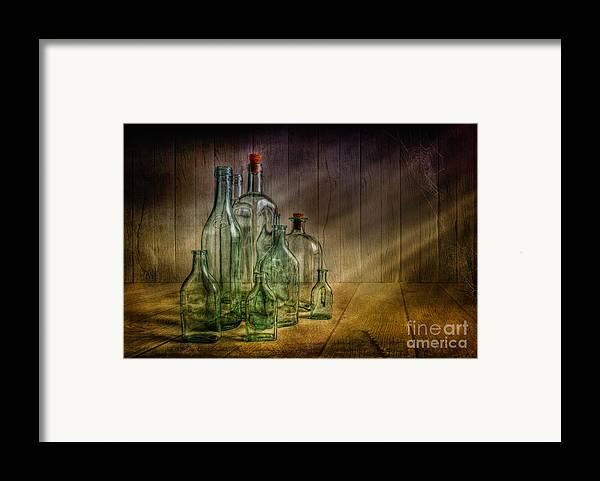 Art Framed Print featuring the photograph Old Bottles by Veikko Suikkanen