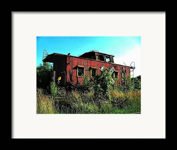 Caboose Framed Print featuring the photograph Old Caboose by Julie Dant