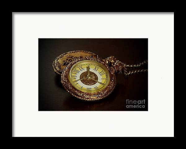 Old Grandfather Time Framed Print featuring the photograph Old Grandfather Time by Inspired Nature Photography Fine Art Photography