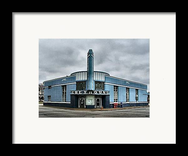Greyhound Framed Print featuring the photograph Old Greyhound Bus Terminal by Julie Dant