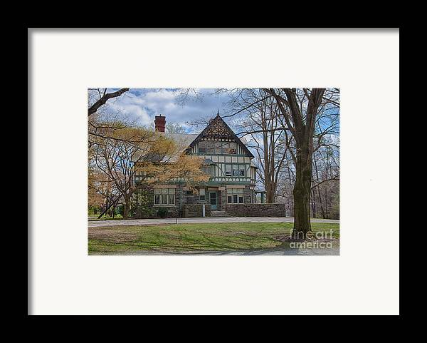 Haverford College Framed Print featuring the photograph Old House On Haverford Campus by Kay Pickens