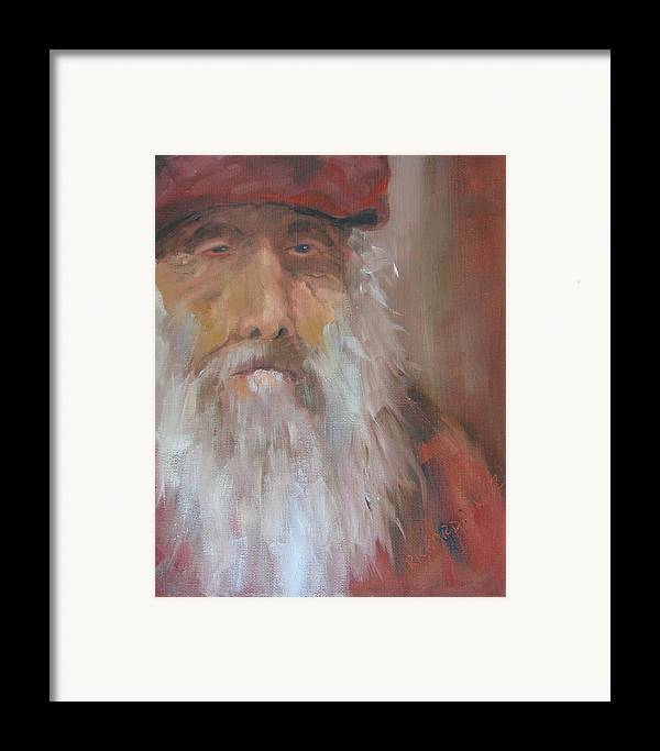 Christo Poloronis Framed Print featuring the painting Old Salt Christo At 80 by Susan Richardson
